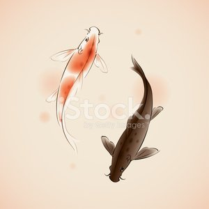 Koi Carp,Fish,Japan,Japanese Culture,China - East Asia,Chinese New Year,Calligraphy,Paintings,Chinese Culture,Pond,Painted Image,Water,Pair,Ink and Brush,Design,Retro Revival,Ilustration,Asia,Ideas,Luck,Springtime,Love,Happiness,Vector,Friendship,Beautiful,Beauty In Nature,Animals And Pets,Illustrations And Vector Art,Nature,Decoration,Nature,Bodies Of Water,Swimming Animal
