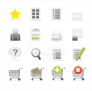 Shopping Cart,Log On,Computer Icon,Order,Icon Set,Shopping,Looking At View,E-commerce,Vector Icons,website icons,Illustrations And Vector Art