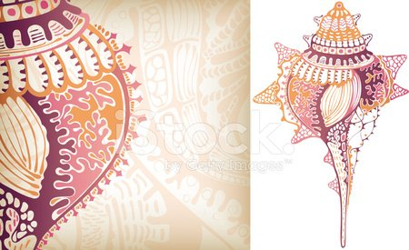 Animal Shell,Sea,Abstract,Conch Shell,Computer Graphic,Queen Conch,Ilustration,Design,Animal,Life,Vector,Backgrounds,Pink Color,White,Horse Conch,Sea Life,Remote,Animals And Pets,Illustrations And Vector Art