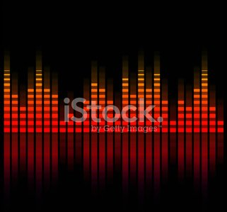 Music Equalizer Blurred IN Black Background stock vectors - 365PSD com
