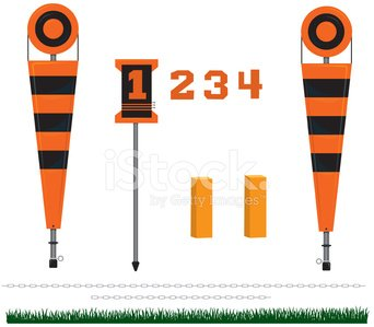 American Football - Sport,Yard Line,Chain,Sport,Professional Sport,Vector,Set,Collection,Group of Objects,Arrangement,Grass,Ilustration,Team Sport,Competitive Sport,Sports Equipment