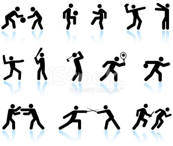Symbol,Sport,Computer Icon,Men,Icon Set,Golf,Running,Stick Figure,People,Exercising,Fighting,Tennis,Jogging,Bowling,Conflict,Basketball - Sport,Basketball,Relaxation Exercise,Football,Athlete,Fencing,American Football - Sport,Soccer,Black And White,Boxing,Baseballs,Leisure Games,Racket,Ball,Competitive Sport,Competition,Team Sport,Combat Sport,Baseball - Sport,Warming Up,Racket Sport,Isolated On White,Reflection,Baseball Bat,White Background