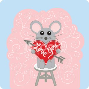 Cheerful,Love,Stool,Mouse,Animal,Heart Shape,Valentine Card,Ilustration,Cute,Cartoon,Lace - Textile,Swirl,Pink Color,Vector,Pastel Colored,Chair,Femininity,aciculum,People,Joy,Concepts And Ideas,Animals And Pets,Smiling,carved letters,Arrow Symbol,Greeting Card