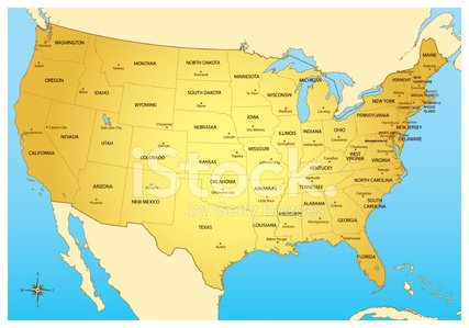 Map,USA,state,Vector,Text,Color Image,Vector Backgrounds,Ilustration,Illustrations And Vector Art