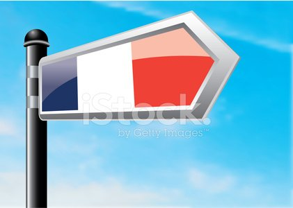 France,Direction,Road Sign,Cloud - Sky,Sky,Travel,Vector,Copy Space,Clear Sky,Illustrations And Vector Art,Vector Cartoons,Single Object,Sign,Horizontal,Directional Sign,Journey,Blue,gradient mesh,Crossroads Sign,French Flag,Pole,Arrow Symbol,Vapor Trail,Ilustration