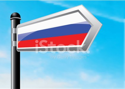 Russia,Cloud - Sky,Sky,Copy Space,Single Object,Ilustration,Vector,Clear Sky,Illustrations And Vector Art,Sign,Horizontal,Pole,Travel,Vapor Trail,Direction,Road Sign,gradient mesh,Vector Cartoons,Blue,Journey,Directional Sign,Russian Flag,Crossroads Sign,Arrow Symbol