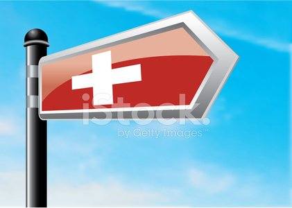 Switzerland,Crossroads Sign,Journey,Direction,Road Sign,Sign,Swiss Flag,Vector,Single Object,Copy Space,Illustrations And Vector Art,Ilustration,Sky,Clear Sky,Travel,Blue,Cloud - Sky,gradient mesh,Vector Cartoons,Horizontal,Vapor Trail,Arrow Symbol,Directional Sign,Pole