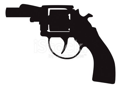pistol silhouette vector images and illustration 365psd com