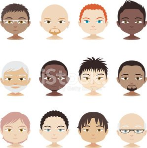 avatar profile avatars head and shoulder people man men faces stock