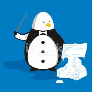 Penguin,Desk,Musician,Music,Rehearsal,Music Stand,Stick - Plant Part,Cartoon,Frozen,Ilustration,Animals And Pets,Tuxedo,Classical Concert,Ice,Vector,Creativity,Frost,Bow Tie,Concepts And Ideas,Illustrations And Vector Art,Bird,Beak,Cold - Termperature,Skill,Concentration,Wing