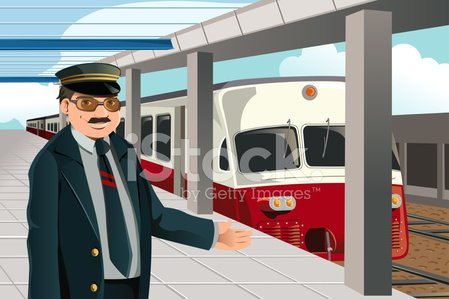 Train Conductor,Train,Railroad Station Platform,Railroad Station,Railroad Track,Cartoon,Men,People,Manual Worker,Service,Public Transportation,Standing,Smiling,Occupation,Ilustration,Urban Scene,City,Job - Religious Figure,People,Male,Happiness,Illustrations And Vector Art,Transportation,Working,Vector,Professional Occupation,Drawing - Art Product