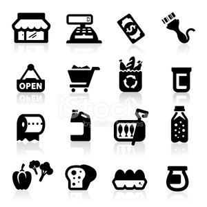 Supermarket,Groceries,Icon Set,Bar Code Reader,Food,Merchandise,Market,Jar,Open,Cash Register,Can,Shopping Cart,Shopping Mall,Bottle,Toilet Paper,Sardine,Equipment,Bag,Currency,Container,Cooking Oil,Sign,Buying,Bar Code,Store,Paying,Reading,Retail,Gallon,Black Color,Soda,Cola,Eggs,Consumerism,Vector,Set,Vector Icons,Ilustration,Shopping,Vegetable,Drink,Illustrations And Vector Art,Collection,Toast,Pepper - Vegetable,Dollar,Bread,Bell Pepper