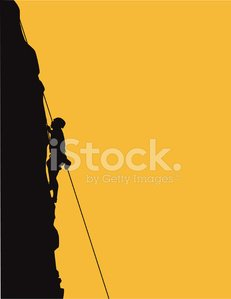 Rock Climbing,Mountain Climbing,Climbing,Rock - Object,Silhouette,Clambering,Cliff,Rappelling,Extreme Sports,Vector,Rope,Sport,Orange Color,Vertical,Ilustration,Actions,Sports And Fitness