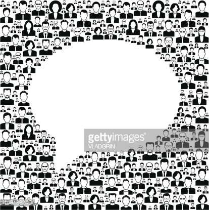 Background People With Speech Bubble stock vectors - 365PSD com