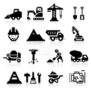 Computer Icon,Construction Industry,Icon Set,Bobcat,Engineer,Crane - Construction Machinery,Equipment,Silhouette,Blueprint,Concrete,Hammer,Men At Work Sign,Black Color,Building - Activity,Manual Worker,Built Structure,Shovel,Construction Worker,Loading,Cement,Industry,Truck,Sand,Stone Material,Forklift,Bulldozer,Land Vehicle,Carpenter,Men,Work Tool,Wheelbarrow,Jackhammer,Set,Elevator,Skid Steer,Ilustration,Collection,Paintbrush,Vector Icons,graved,Isolated,Vector,Pyramid Shape,Illustrations And Vector Art,Electric Mixer,Crane Truck
