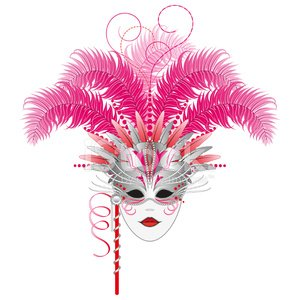 Mardi Gras,Mask,Feather,Headdress,Venice - Italy,Costume,Carnival,Party - Social Event,Stage Costume,Parade,Celebration,Ornate,Female,Performing Arts Event,Disguise,Scroll Shape,Isolated,Traditional Festival,Theatrical Performance,New Orleans,Human Face,Italian Culture