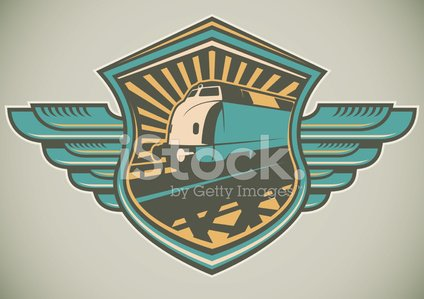 Train,Retro Revival,Railroad Track,Locomotive,Sign,Symbol,Transportation,People Traveling,Travel,Coat Of Arms,Artificial Wing,Label,Ilustration,Engine,Subway Train,Badge,Isolated,Insignia,Journey,Vector,Machinery,Style,Color Image,Land Vehicle,Single Object,Shield,Multi Colored