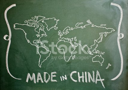 Made in china written on greenboard hand drawn world map stock made in china written on greenboard hand drawn world map gumiabroncs Images