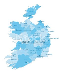 Detailed Map Of Ireland Vector.Ireland Vector Map Regions Isolated Stock Vectors 365psd Com