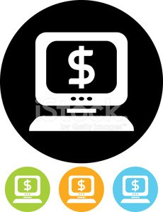 Electronic Banking,Symbol,Computer Icon,Internet,Currency,Dollar Sign,Computer,Business,Wealth,Finance,Isolated,Selling,E-commerce,Vector,Banking,Ilustration