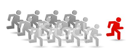 Standing Out From The Crowd,Running,Computer Icon,Sports Race,Three-dimensional Shape,Individuality,People,Concepts,Business,Leadership,Success,Following,Winning,Employment Issues,Teamwork,Opportunity,Team,Design Element,Manager,Sport