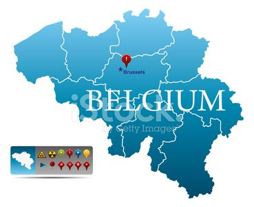 Belgium Map With Navigation Icons stock vectors 365PSDcom