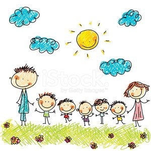 Family,Child,Smiling,Sketch,Cartoon,Unity,Holding Hands,Happiness,Drawing - Art Product,Mother,Cheerful,Domestic Life,Sunlight,Childhood,Sun,Ilustration,Springtime,Daughter,Pencil Drawing,Father,Multi Colored,Summer,Adult,Young Adult,Little Girls,Child's Drawing,Husband,Son,Vibrant Color,Brother,People,Togetherness,Wife,Little Boys,Sister,Cute,Outdoors,Standing,Characters,Parent