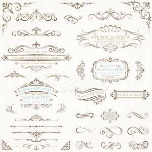 Frame,Wedding,Ornate,Scroll,Scroll Shape,Scroll,Swirl,Invitation,Set