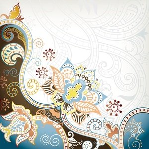 Turquoise,Blue,Leaf,Abstract,Scroll Shape,Flower,Elegance,Asia,Design,Curve,Style,Petal,Ilustration,Swirl,Curled Up,Backgrounds,Asian Ethnicity