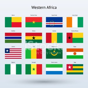 Western Africa Flags Collection stock vectors - 365PSD com