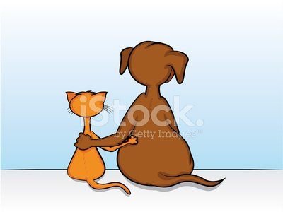 Dog,Domestic Cat,Embracing,Tail,Rear View,Paw,Backgrounds,Looking,Humor,Puppy,Cartoon,Sitting,Friendship,Cheerful,Togetherness,Happiness,Symbol,Fun,Vector,Love,Computer Icon,Feline,Drawing - Art Product,Pets,Track,Animal Arm,Pair,Behind,Ilustration,Computer Graphic,Isolated,Kitten,Horizontal,Cute,Mascot,Copy Space,Domestic Animals,Blue,Arm Around