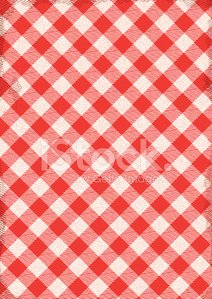 Checked Table Cloth Background With Texture