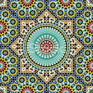 Pattern,Morocco,Islam,Mosaic,Tile,Arabic Style,Multi Colored,Cultures,Glazed,Ilustration,Architecture,Decor,Seamless,Ceramic,Wall,Flooring,Marrakech