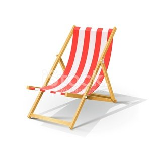 Wooden beach chaise longue stock vectors for Beach chaise longue