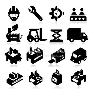 Computer Icon,Production Line,Manufacturing,Factory,Industry,Warehouse,Machinery,Engineer,Truck,Equipment,Manual Worker,Building Exterior,Forklift,Industrial Building,Producer,Laboratory,Construction Industry,Box - Container,Gear,Van - Vehicle,Invention,Mini Van,Wrench,Technology,icons set,Innovation,Time,Power Station,Plant,Built Structure,Vector,Merchandise