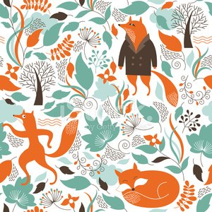 Fox,Forest,Animal,Animal Themes,Floral Pattern,Pattern,Ilustration,Cute,Backgrounds,Autumn,Flower,Fantasy,Animated Cartoon,Backdrop,Vector,Ornate,Painted Image,Single Flower,Seamless,Cartoon,Decoration,Flourish,Style,Nature,Branch,Orange Color,Elegance,Season,Tree,Decor,Fashionable,Wallpaper Pattern,Plant,Leaf,Botany,Art,Silhouette,Computer Graphic,Fun,Green Color,Creativity,Wallpaper