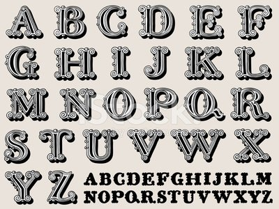 Alphabet,Three-dimensional Shape,Alphabetical Order,Old-fashioned,Calligraphy,Typescript,Ornate,Ilustration,Vector,Text,Design Element,Decoration,Education,uppercase,Scale,Shadow,Variation,Sepia Toned,Set,serif,Design,Art,Capital Letter,typographical,Swirl,Black And White,Learning,Doodle,Document