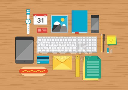 Desk,Occupation,Ilustration,Office Interior,Table,Design Element,Computer Keyboard,Group of Objects,Diary,Icon Set,Pencil,Pen,Place of Work,Adhesive Note,Routine,Digital Tablet,Modern,Envelope,Business,Lifestyles,Vector,Hot Dog,Clock,Backgrounds,Credit Card,Collection,Mail,Clip,Set,Document,File,Computer Graphic,Mobile Phone,Equipment,Sign,Message,Elegance,Personal Organizer,Letter,Isolated,Design,Calendar