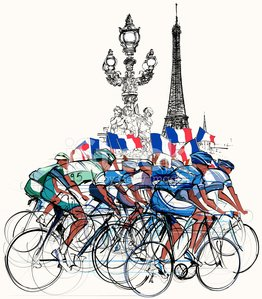 Cycling,Cyclist,Bicycle,Sports Race,France,Street,Competition,Eiffel Tower,French Culture,Paris - France,Running,Competitive Sport,Action,Group Of People,Sports Helmet,People,Flag,Exploration,Pont Alexandre III,Wheel,Mode of Transport,Outdoors,Victory,Success,Sprinting,Men,Sprint,Vector,Arrival,Athlete,Winning,Sports Team,Pencil Drawing,Bicycle Pedal,Drawing - Art Product,Leadership,Sport,Ilustration