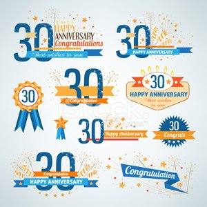 30-34 Years,Anniversary,Number 30,Birthday,Insignia,Sign,Award Ribbon,Ribbon,Sparkler,Candle,Number,Message,Text,Firework Display,Party - Social Event,Memorial,Star Shape,Collection,Retro Revival,Decoration,Event,Design,Design Element,Congratulating,Orange Color,Brown,Ceremony,Symbol,Celebration,Label,Ornate,Blue