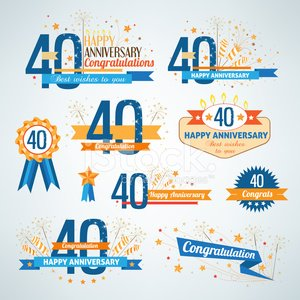 40-44 Years,Number 40,Anniversary,Birthday,Symbol,Award Ribbon,Ribbon,Sign,Celebration,Party - Social Event,Number,Retro Revival,Firework Display,Design Element,Collection,Ceremony,Brown,Congratulating,Memorial,Ornate,Candle,Sparkler,Orange Color,Message,Label,Decoration,Blue,Event,Star Shape,Design,Text
