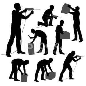Silhouette,Drill,Construction Site,Construction Industry,Manual Worker,Men,Male,Group of Objects,Vector,Cargo Container,Isolated,Design Element,Sketch,Hammer,White Background,Cut Out,People,Industrial Equipment,perforator,Isolated On White,Black Color,Working,Collection,Foreman,Adult,Ilustration