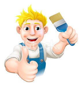 Men,Construction Industry,House Painter,Manual Worker,Repairman,Building Contractor,Home Improvement,Ilustration,Mascot,Occupation,Coveralls,Work Tool,Painting,Decorating,Trading,Fun,Improvement,Vector,Cheerful,Blue,Human Hand,Thumbs Up,Thumb,Bib Overalls,Cartoon,Home Decorator,Paintbrush,Smiling,Cute,Craftsperson,Blond Hair,Giving,Repairing,Holding,One Person,Drawing - Art Product,People,Happiness,Characters