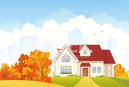 House,Autumn,Suburb,Urban Scene,Front View,City,Landscape,Facade,Building Exterior,Architecture,Built Structure,Cottage,Vector,Residential Structure,Roof,Tree,No People,Town,Cloud - Sky,Multi Colored,Doorway,Clip Art,Nature,Cartoon,Lush Foliage,Real Estate,Door,Bush,Cloudscape,Outdoors,Front or Back Yard,Footpath,Sky,Window,Drawing - Art Product,Eps10,Ilustration,foliagé