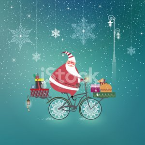Bicycle,Cycling,Santa Claus,Christmas,New Year's Eve,Christmas Present,Greeting Card,Symbol,New Year,Cheerful,Snow,Humor,Fun,Holiday,Christmas Ornament,Ilustration,Wishing,Hanging,Christmas Decoration,Street Light,Vector,Santa Hat,Tassel,Design Element,Lighting Equipment,Season,Lantern,Party - Social Event,Card Design,Snowflake,Elegance,Greeting,Gift Box,Winter,Holiday Card,Celebration,happy holidays,jingle bell,Design,Invitation,Multi Colored
