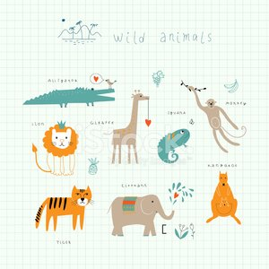 Animal,Giraffe,Silhouette,Zoo,Young Animal,Monkey,Elephant,Safari Animals,Tropical Rainforest,Retro Revival,Pattern,Kangaroo,Ilustration,Animated Cartoon,Cartoon,Lion - Feline,Ape,Old-fashioned,School,Tiger,Crocodile,Green Color,Education,Backgrounds,Africa,Happiness,Art,Cheerful,Humor,Vector,Cute,Fun,Workbook,Notebook,Collection,Adventure,Computer Graphic,Iguana,Tropical Climate,Animals In The Wild,Summer,Nature,Wildlife,Set