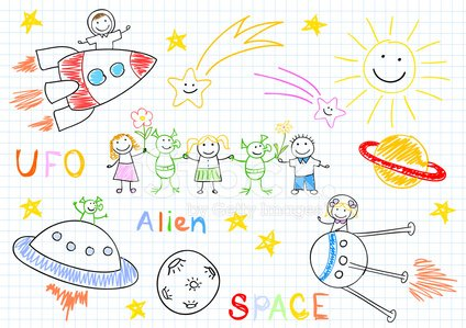 UFO,Space,Alien,Bizarre,Child,Pencil Drawing,Animated Cartoon,Fantasy,Cute,Little Boys,Childhood,Astronaut,Imagination,Little Girls,Paranormal,Vector,Animal,Space Travel Vehicle,Spaceship,Visit,Meeting,Ugliness,Comet,Friendship,Joy,Flying,Greeting,Dreamlike,Fun,Happiness,Galaxy,Rocket,Smiling,Baby,Planet - Space,Cheerful,Small,Collection,Set