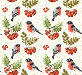 Pattern,Tree,Bird,Berry Fruit,Winter,Seamless,Sparrow,Decoration,Print,Plant,Ilustration,Ornate,Nature,Autumn,Paper,Vector,Floral Pattern,Branch,Botany,Textile,Red,Herb,Design Element,Bush,Wallpaper,Leaf,Design,foliagé,Rowanberry,Summer,Meadow,Repetition,Backgrounds,Light - Natural Phenomenon,Multi Colored,Simplicity,Season,Drawing - Art Product,Wallpaper Pattern,Wrapping Paper,Tile,Woodland,Decor,Forest,Curtain,Computer Graphic,Rowan Tree