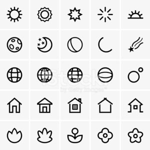 Symbol,Computer Icon,House,Residential Structure,Sunlight,Sun,Planet - Space,Earth,Star - Space,Planetary Moon,Night,Set,Moon,Star Shape,Vector,Globe - Man Made Object,Computer Graphic,Sphere,Nature,Flower