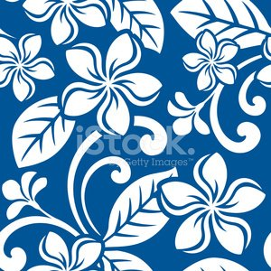 Hawaii Islands,Big Island,Beach,Frangipani,Pattern,Tropical Climate,Hawaiian Shirt,Print,Floral Pattern,Flower,Vector,Cultures,No People,Backgrounds,Ilustration,Single Flower,one color,White,Nature,Wallpaper Pattern,Island Style,Square,Blue